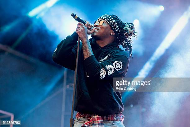Rapper Future performs during the 2016 Buku Music Arts Project on March 12 2016 in New Orleans Louisiana