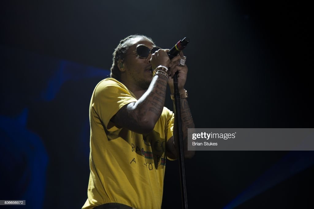 Rapper Future performs live during 'The Future HNDRXX Tour' at Royal Farms Arena on August 21, 2017 in Baltimore, Maryland.
