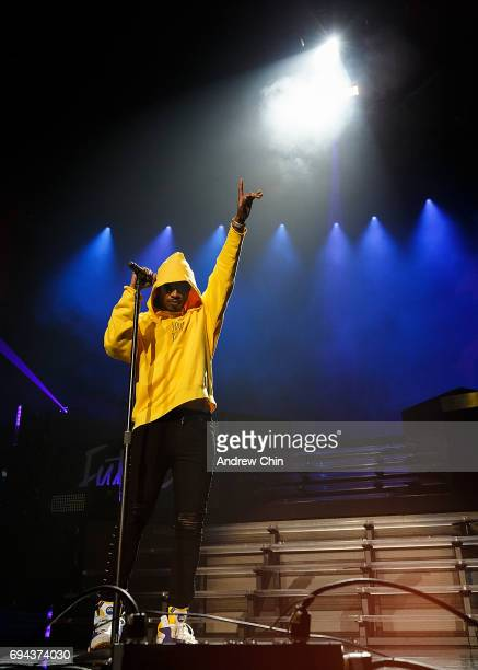 Rapper Future performs on stage during the 'Nobody Safe' Tour at Pepsi Live at Rogers Arena on June 9 2017 in Vancouver Canada