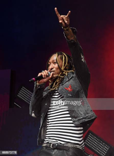 Rapper Future performs on the Coachella Stage during day 2 of the Coachella Valley Music And Arts Festival at the Empire Polo Club on April 15 2017...