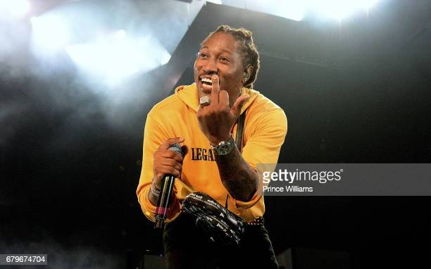 Rapper Future performs onstage in concert during the 'Nobody Safe' tour at Lakewood Amphitheatre on May 5 2017 in Atlanta Georgia