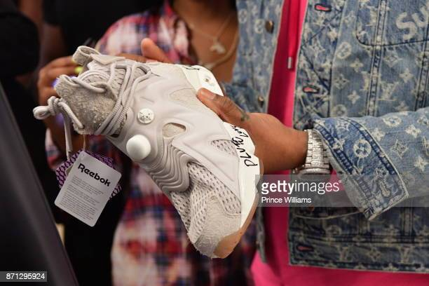 Rapper Future Signs His Signature Shoe at Future Reebok 'Pluto' Shoe Release at Jeffrey on November 6 2017 in Atlanta Georgia