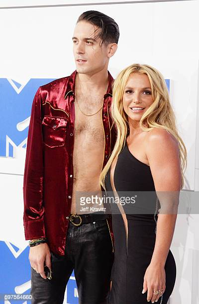 Rapper GEazy and Britney Spears attend the 2016 MTV Video Music Awards at Madison Square Garden on August 28 2016 in New York City