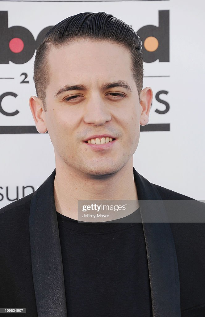 Rapper <a gi-track='captionPersonalityLinkClicked' href=/galleries/search?phrase=G-Eazy&family=editorial&specificpeople=9024597 ng-click='$event.stopPropagation()'>G-Eazy</a> arrives at the 2013 Billboard Music Awards at the MGM Grand Garden Arena on May 19, 2013 in Las Vegas, Nevada.