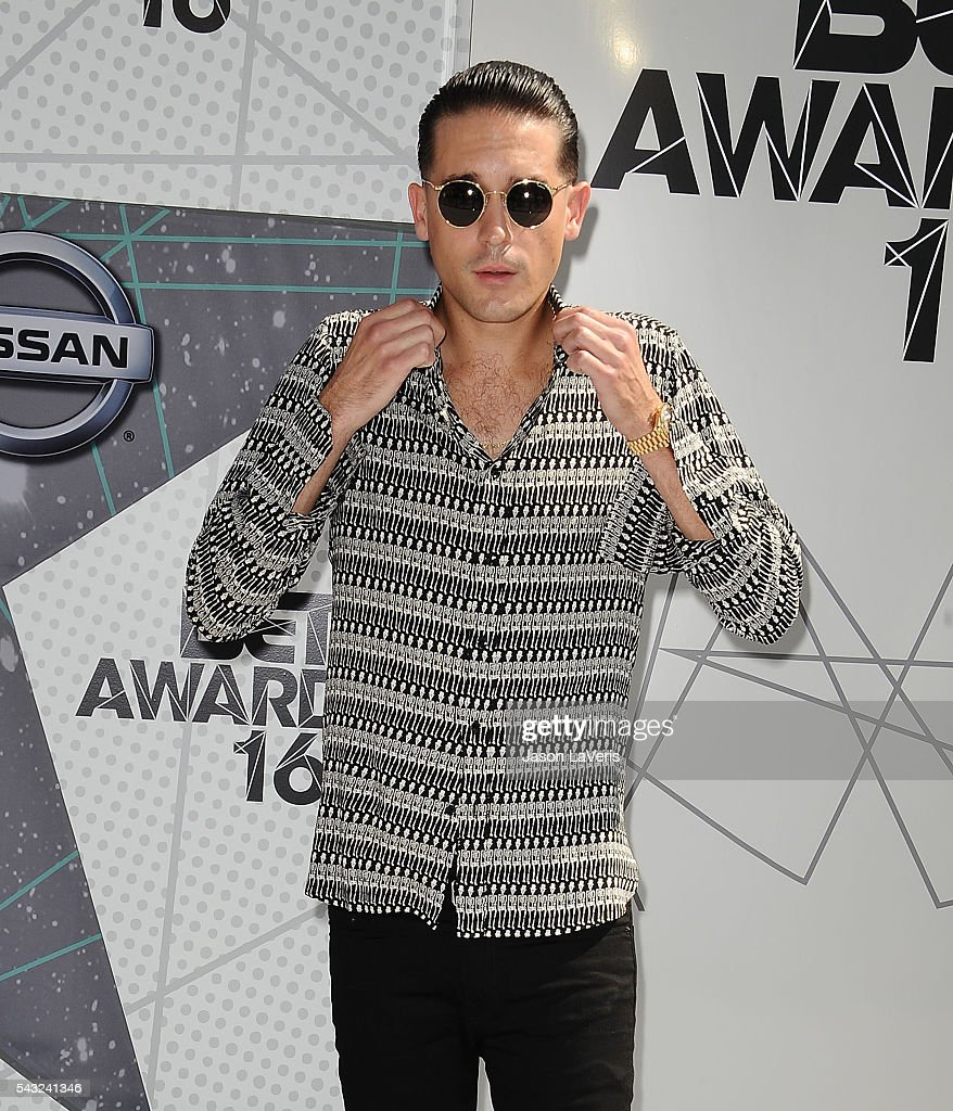 Rapper <a gi-track='captionPersonalityLinkClicked' href=/galleries/search?phrase=G-Eazy&family=editorial&specificpeople=9024597 ng-click='$event.stopPropagation()'>G-Eazy</a> attends the 2016 BET Awards at Microsoft Theater on June 26, 2016 in Los Angeles, California.
