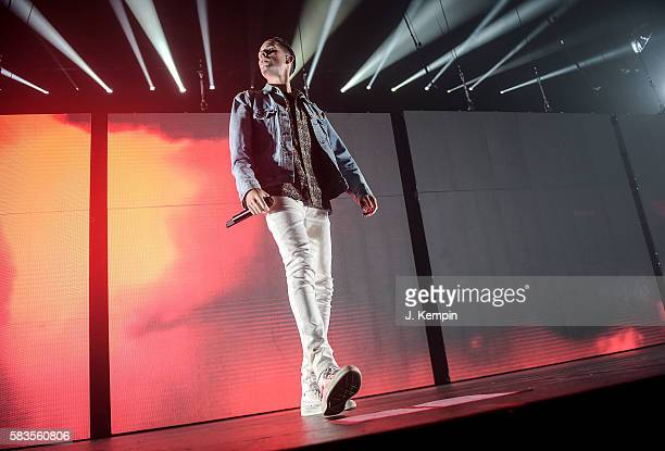 Rapper GEazy performs during The Endless Summer Tour With Yo Gotti GEazy Logic YG at Barclays Center of Brooklyn on July 26 2016 in the Brooklyn...
