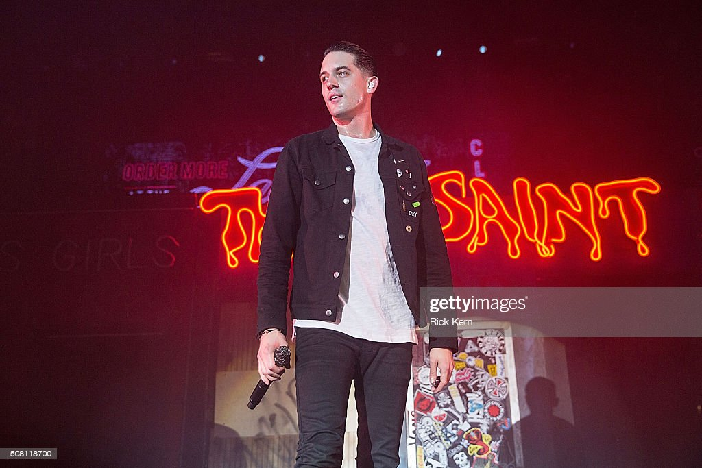 Rapper GEazy performs in concert at Austin Music Hall on February 2 2016 in Austin Texas