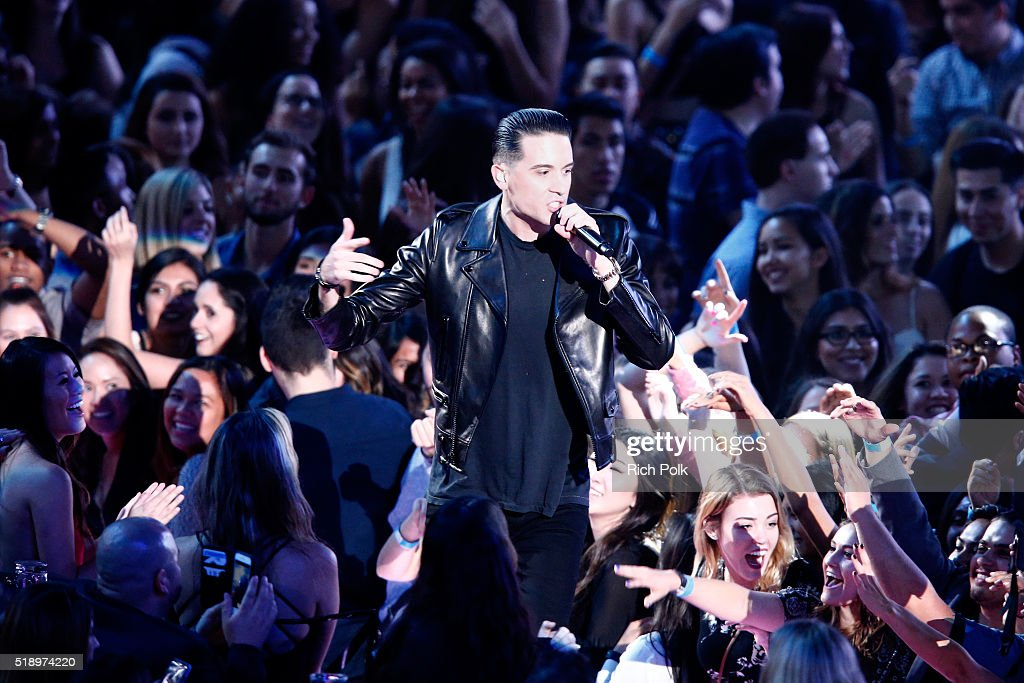 Rapper GEazy performs onstage during the iHeartRadio Music Awards at The Forum on April 3 2016 in Inglewood California