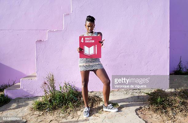 Rapper Gigi Lamayne on the set of a video shoot directed by MJ Delaney inspired by the Spice Girls video for Wannabe for Global Girls on May 21 2016...