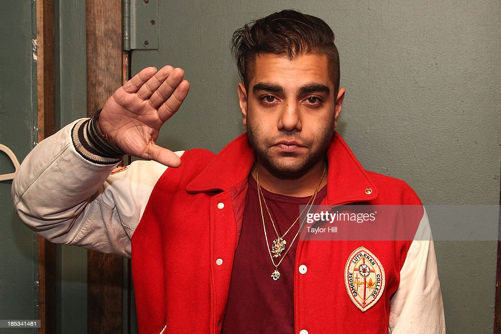 Rapper Heems poses for a portrait at Irving Plaza on October 18, 2013 in New York City.