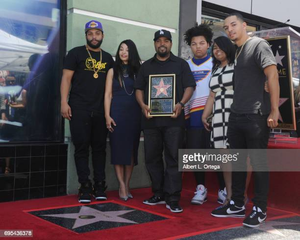 Rapper Ice Cube and family at Ice Cube's Star On The Hollywood Walk Of Fame Ceremony held on June 12 2017 in Hollywood California