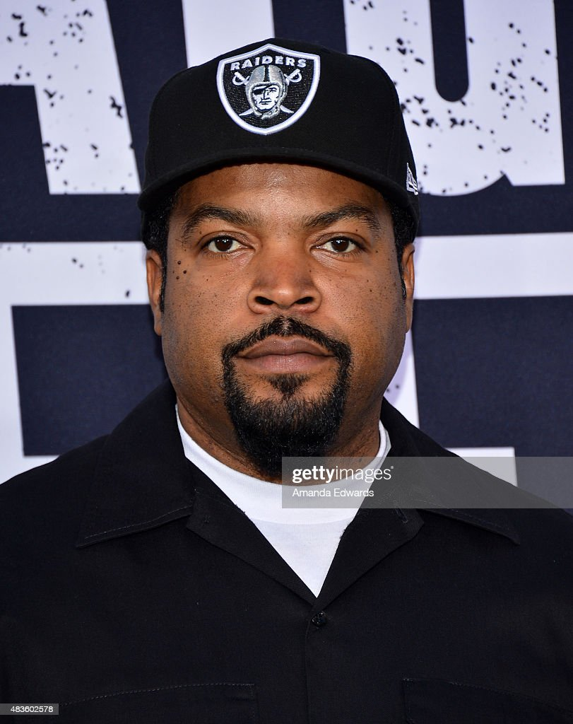 Rapper Ice Cube arrives at the world premiere of Universal Pictures and Legendary Pictures' 'Straight Outta Compton' at the Microsoft Theater on August 10, 2015 in Los Angeles, California.
