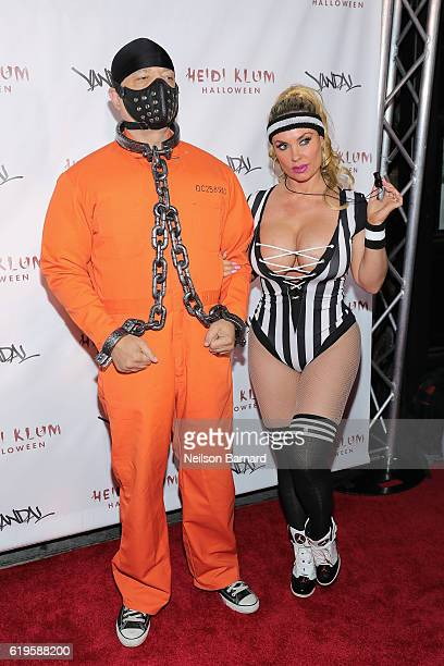 Rapper IceT and actress Coco Austin attend Heidi Klum's 17th Annual Halloween Party sponsored by SVEDKA Vodka at Vandal on October 31 2016 in New...