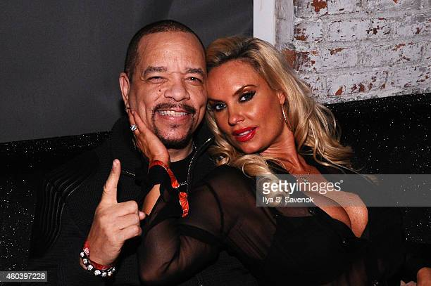 Rapper IceT and Coco Austin attend the Z100 Jingle Ball 2014 after party presented by GTA and Pierre Toma at Space Ibiza on December 12 2014 in New...
