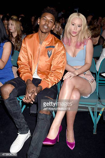 Rapper Iggy Azalea and athlete Nick Young attend the 2015 Billboard Music Awards at MGM Grand Garden Arena on May 17 2015 in Las Vegas Nevada