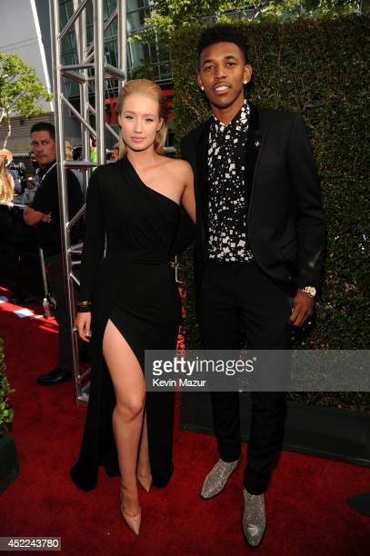 Rapper Iggy Azalea and NBA player Nick Young attend The 2014 ESPY Awards at Nokia Theatre LA Live on July 16 2014 in Los Angeles California