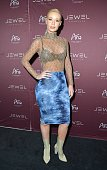 Rapper Iggy Azalea arrives at Jewel Nightclub at the Aria Resort Casino on July 24 2016 in Las Vegas Nevada