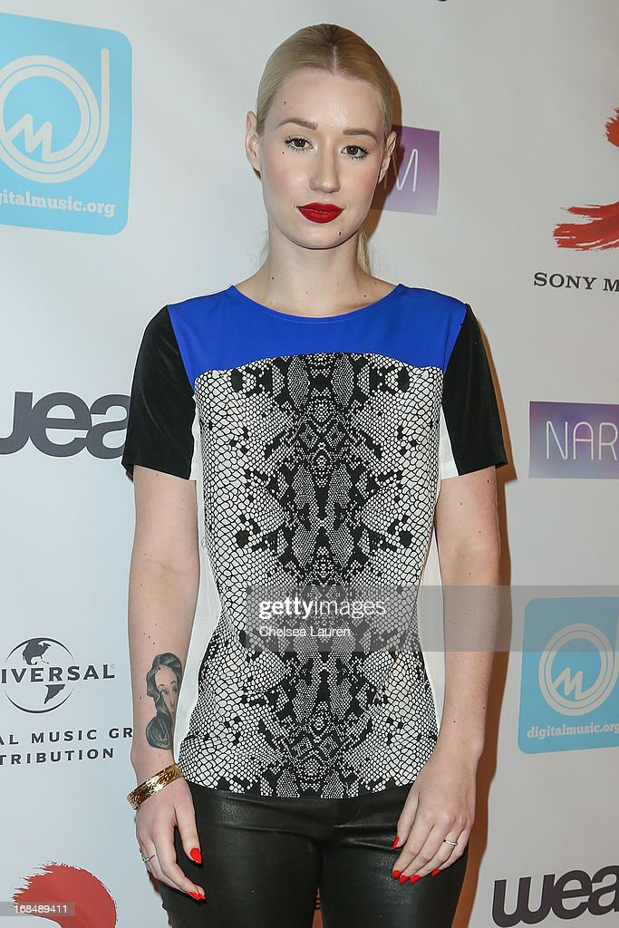 Rapper Iggy Azalea arrives at the NARM Music Biz Awards dinner party at the Hyatt Regency Century Plaza on May 9, 2013 in Century City, California.