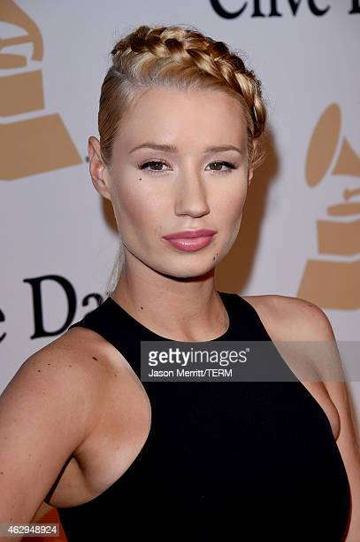 Rapper Iggy Azalea attends the PreGRAMMY Gala and Salute To Industry Icons honoring Martin Bandier at The Beverly Hilton Hotel on February 7 2015 in...