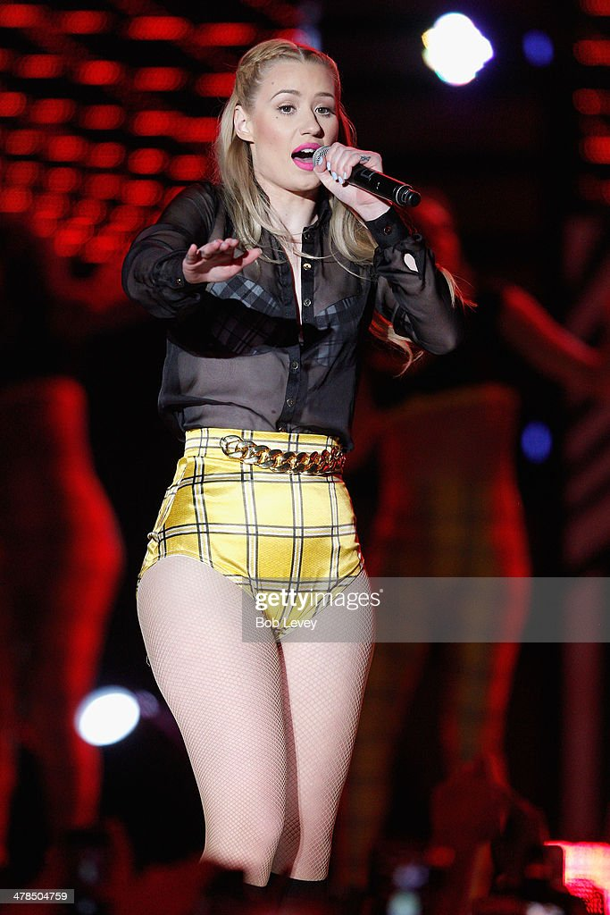 Rapper <a gi-track='captionPersonalityLinkClicked' href=/galleries/search?phrase=Iggy+Azalea&family=editorial&specificpeople=8558263 ng-click='$event.stopPropagation()'>Iggy Azalea</a> performs onstage at the 2014 mtvU Woodie Awards and Festival on March 13, 2014 in Austin, Texas.