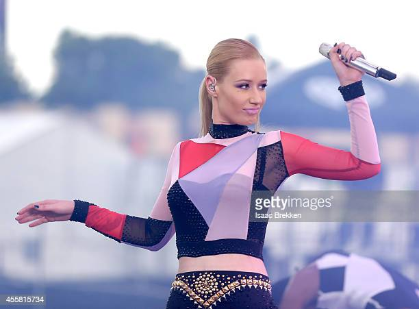 Rapper Iggy Azalea performs onstage during the 2014 iHeartRadio Music Festival Village on September 20 2014 in Las Vegas Nevada