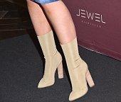 Rapper Iggy Azalea shoe detail arrives at Jewel Nightclub at the Aria Resort Casino on July 24 2016 in Las Vegas Nevada