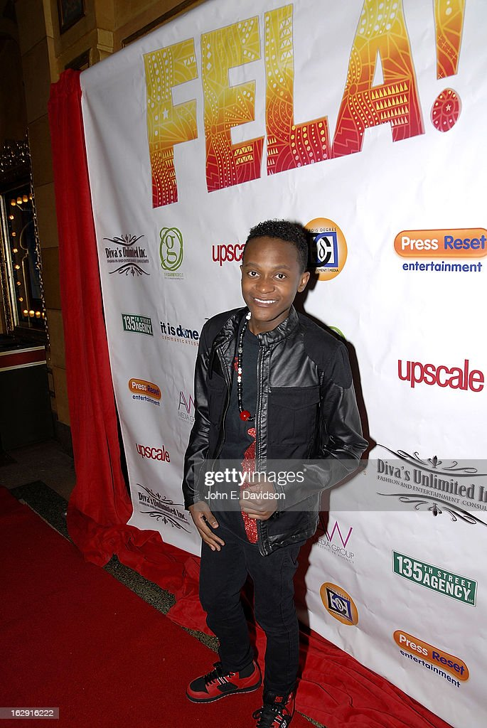 Rapper Innoss'B attends the 'Fela!' Opening Night at The Fox Theatre on February 28, 2013 in Atlanta, Georgia.