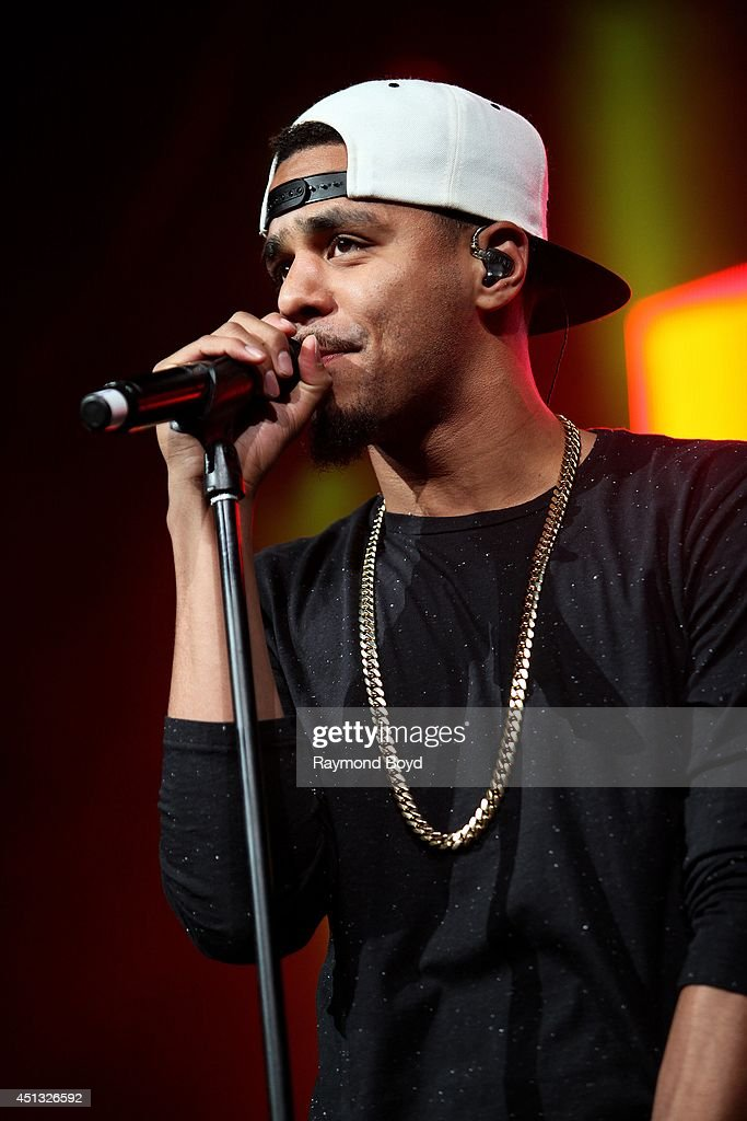 Rapper J. Cole performs at the United Center during the 'WGCI-FM Summer Jam 2014' on June 22, 2014 in Chicago, Illinois.
