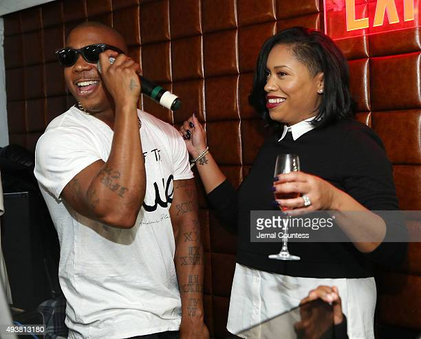 Rapper Ja Rule sings to his wife Aisha Atkins as he performs at the MTV And Ja Rule 'Follow The Rules' Premiere Party at Catch on October 21 2015 in...