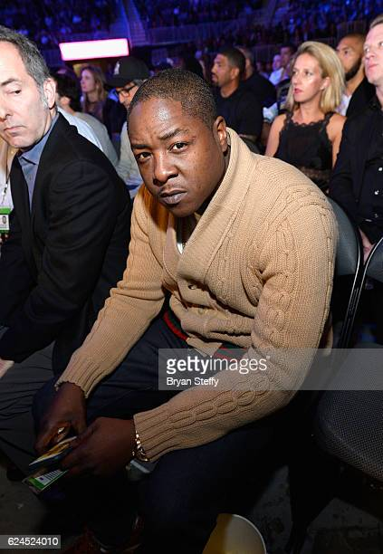 Rapper Jadakiss sits in the audience during Kovalev vs Ward and D'USSE Lounge at TMobile Arena on November 19 2016 in Las Vegas Nevada