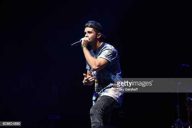 Rapper Jake Miller performs on stage during Z100 CocaCola All Access Lounge at Z100's Jingle Ball 2016 Presented by Capital One preshow at...