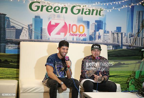 Rapper Jake Miller speaks with Mo' Bounce during Z100 CocaCola All Access Lounge at Z100's Jingle Ball 2016 Presented by Capital One preshow at...