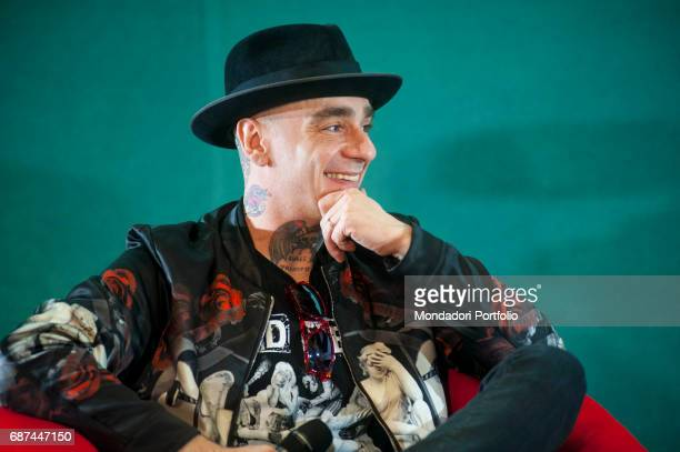 Rapper JAx interviewed by journalist Gianni Poglio during the event 'Panorama d'Italia' Varese Italy 29 May 2015