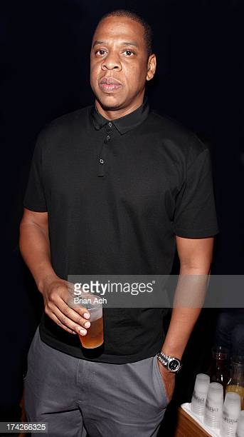 Rapper Jay Z attends the Jay Z and D'USSE Cognac Host The Official Legends of the Summer After Party at Lumen on July 22 2013 in Chicago Illinois