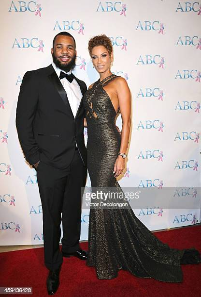 Rapper Jayceon Terrell Taylor aka The Game and model Nicole Mitchell Murphy attend Associates for Breast and Prostate Cancer Studios 25th Annual Talk...