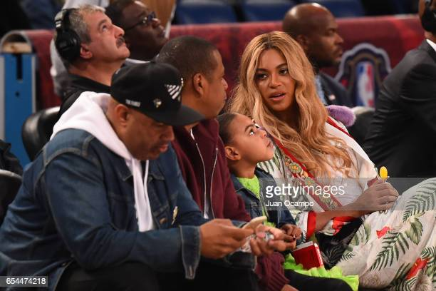 Rapper JayZ and Singer Beyonce attend the 2017 NBA AllStar Game on February 19 2017 at the Smoothie King Center in New Orleans Louisiana NOTE TO USER...