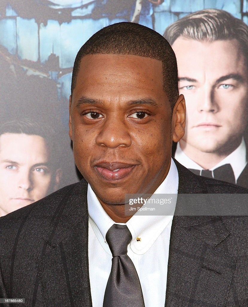 Rapper Jay-Z attends the 'The Great Gatsby' world premiere at Avery Fisher Hall at Lincoln Center for the Performing Arts on May 1, 2013 in New York City.