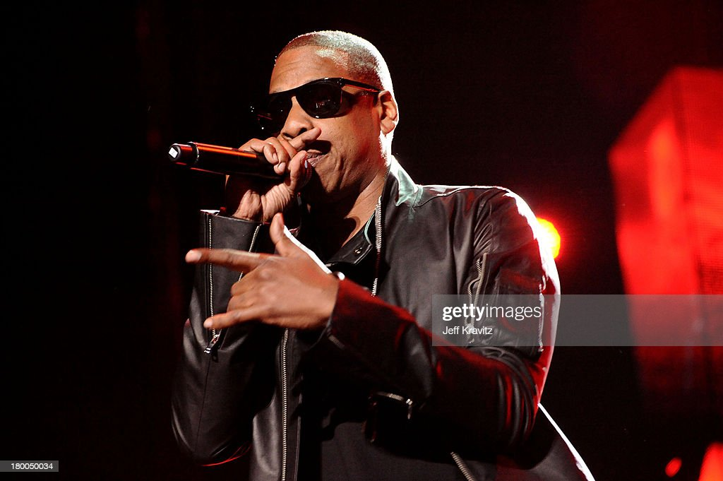 Rapper JayZ performs during day 1 of the Coachella Valley Music Arts Festival 2010 held at The Empire Polo Club on April 16 2010 in Indio California