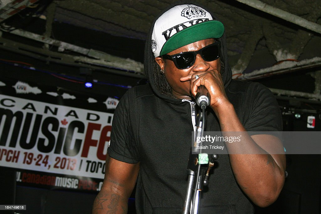 Rapper Jerzee performs for the On The Radar showcase during Canadian Music Week at the Wreck on March 24, 2013 in Toronto, Canada.