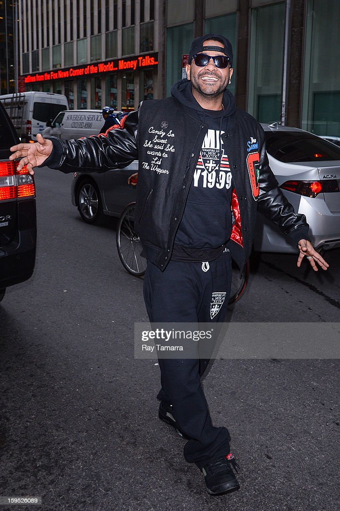 Rapper Jim Jones walks in Midtown Manhattan on January 14, 2013 in New York City.