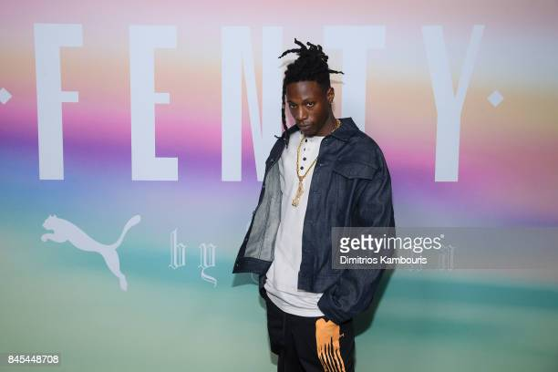Rapper Joey Badass attends the FENTY PUMA by Rihanna Spring/Summer 2018 Collection at Park Avenue Armory on September 10 2017 in New York City