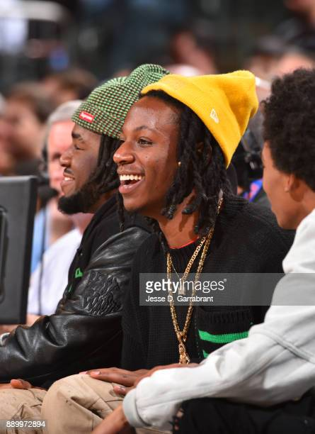 Rapper Joey Badass attends the New York Knicks take on the Atlanta Hawks at Madison Square Garden on December 10 2017 in New York New York NOTE TO...