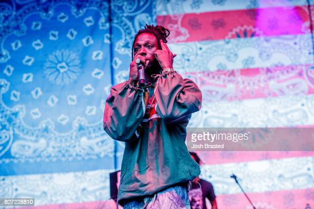 Rapper Joey Badass performs at Lollapalooza 2017 at Grant Park on August 6 2017 in Chicago Illinois