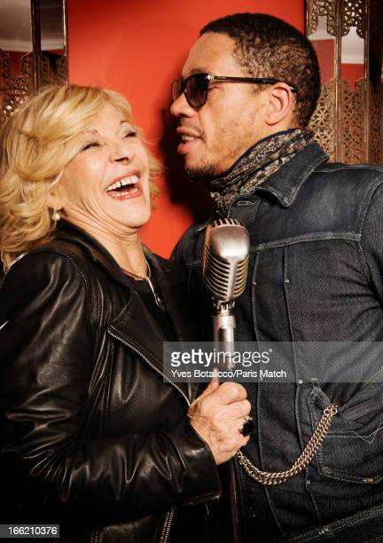 Rapper Joey Starr and singer Nicoletta Grisoni are photographed for Paris Match on January 21 2013 in Paris France