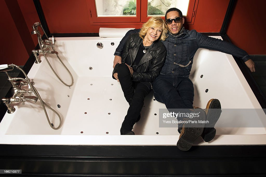 Rapper Joey Starr and singer Nicoletta Grisoni are photographed for Paris Match on January 21, 2013 in Paris, France.