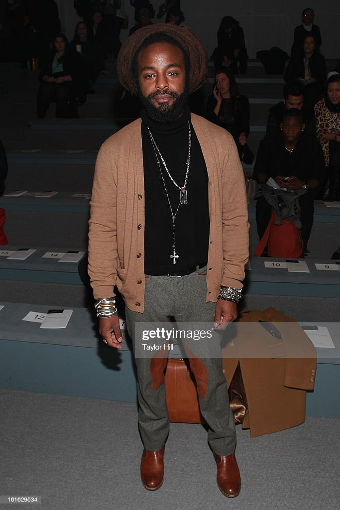 Rapper John Forte attends the Nanette Lepore Fall 2013 Mercedes-Benz Fashion Show at The Stage at Lincoln Center on February 13, 2013 in New York City.