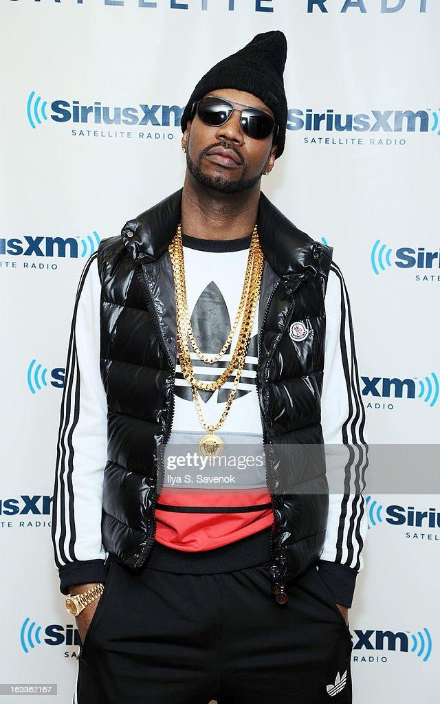 Rapper Jordan Michael Houston aka Juicy J visits the SiriusXM Studios on March 8, 2013 in New York City.