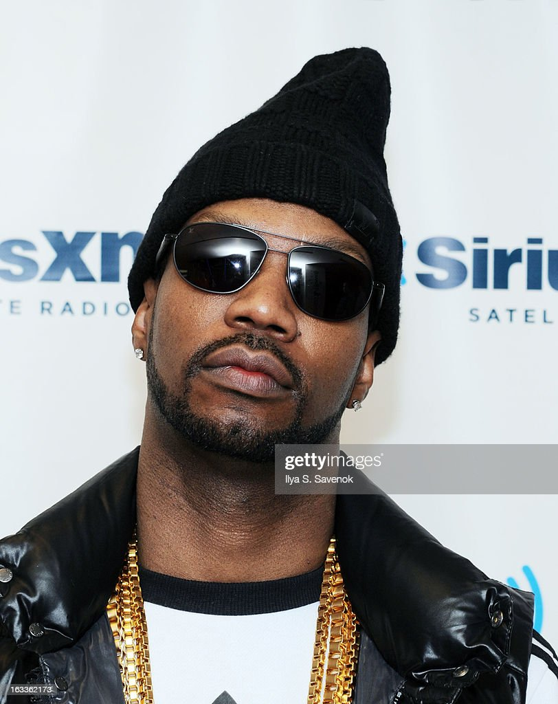 Rapper Jordan Michael Houston aka Juicy J visits the SiriusXM Studios on March 8, 2013 in New York City.