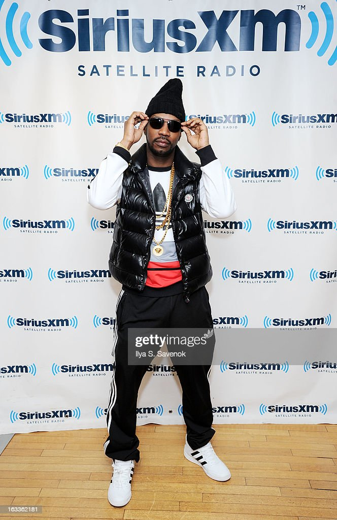 Rapper Jordan Michael Houston aka <a gi-track='captionPersonalityLinkClicked' href=/galleries/search?phrase=Juicy+J&family=editorial&specificpeople=698028 ng-click='$event.stopPropagation()'>Juicy J</a> visits the SiriusXM Studios on March 8, 2013 in New York City.