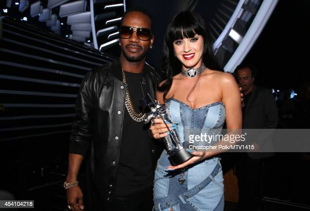 Rapper Juicy J and recording artist Katy Perry attend the 2014 MTV Video Music Awards at The Forum on August 24 2014 in Inglewood California